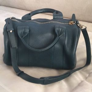Alexander Wang Rocco in Dark green with gold stud
